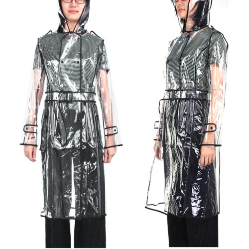 Transparent Raincoat Knee-Length