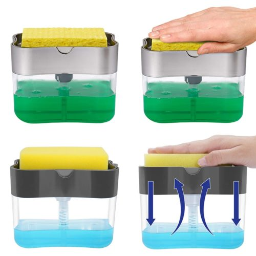 Soap Pump Dispenser Sponge Holder