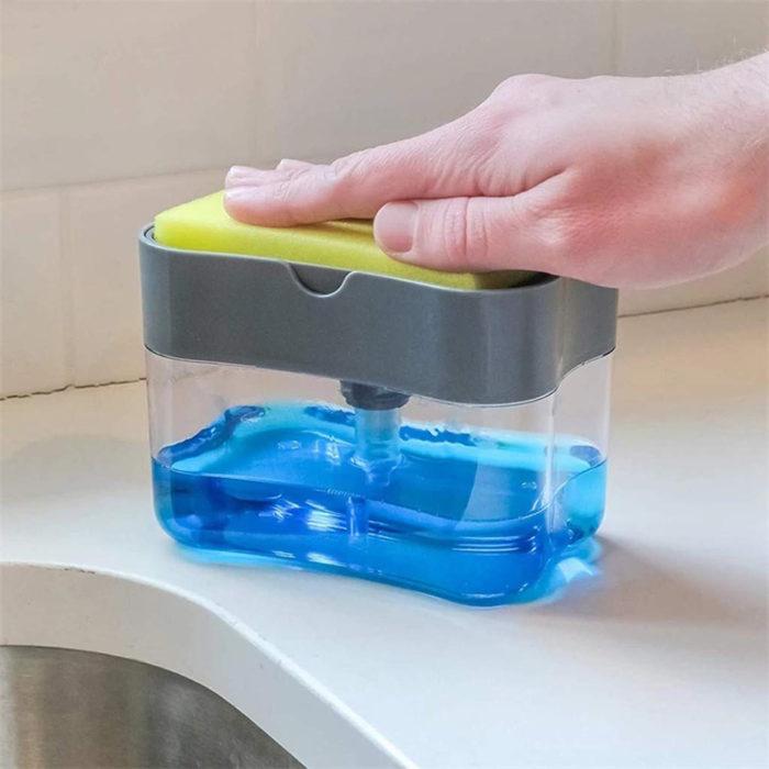 Soap Pump Dispenser Sponge Holder