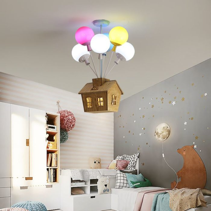Childrens Ceiling Light House with Balloons