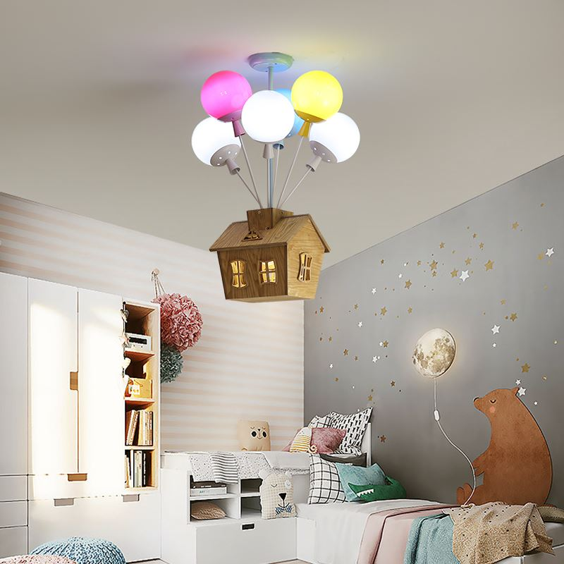 Ceiling Light House With Balloons