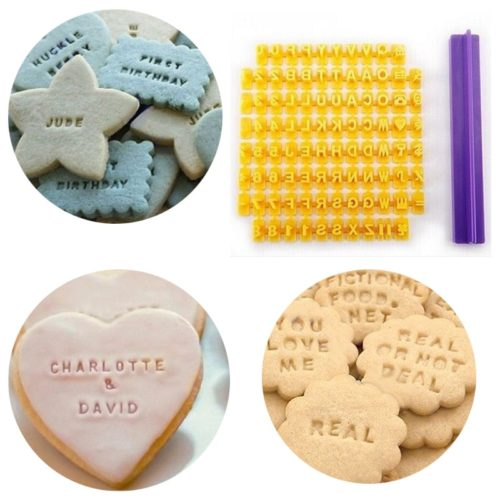 Cookie Letter Stamp Embossing Tool