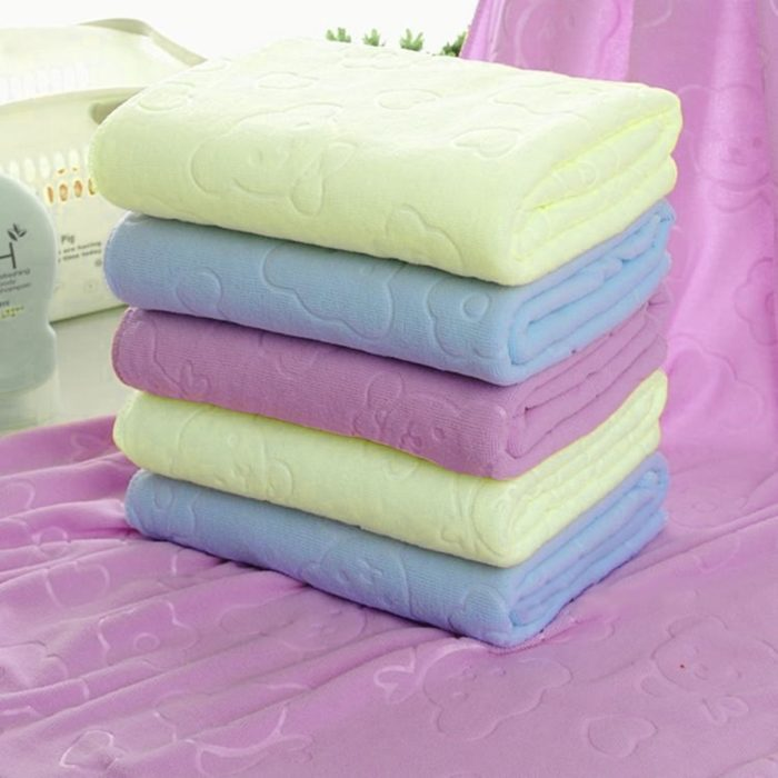 Kids Bath Towel Microfiber Fabric
