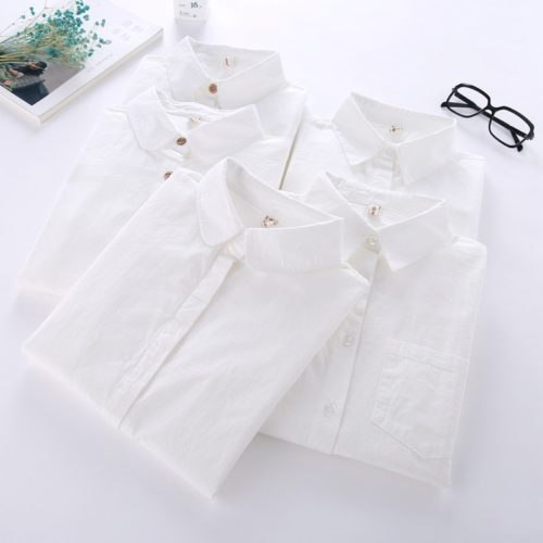 Ladies White Blouse Long Sleeve Blouse