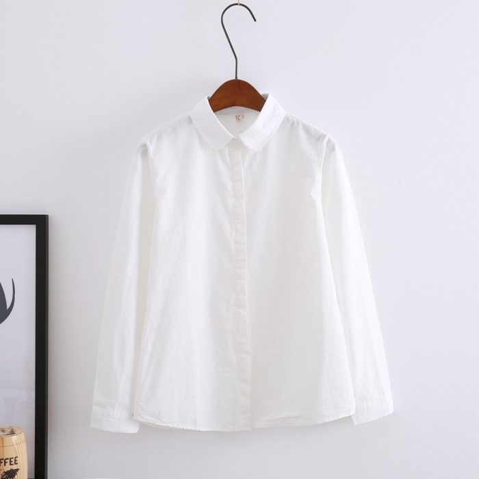 Ladies White Blouse Long Sleeve Blouse