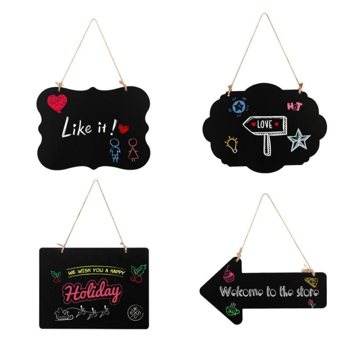 Chalkboard Signs Double-Sided Message Board