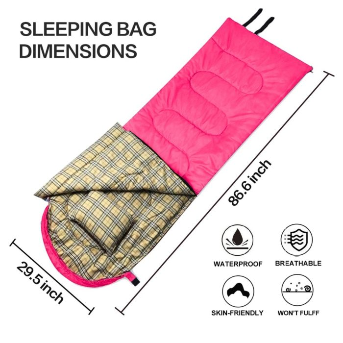 Sleeping Bag With Pillow And Folding Ropes