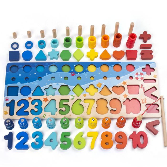 Wooden Shape Sorter Educational Toy