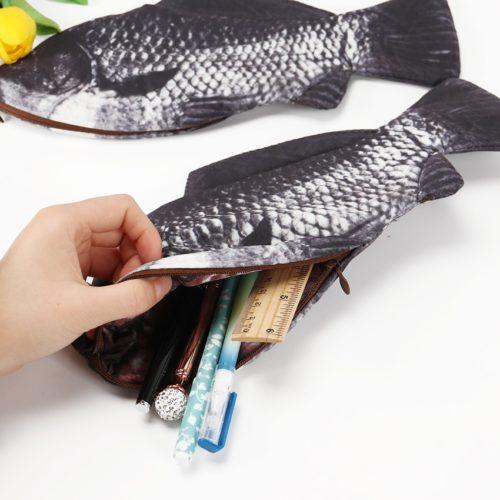 Fish Pencil Case Fun Pen Pouch