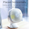 Clip-On Desk Fan Portable and Rechargeable