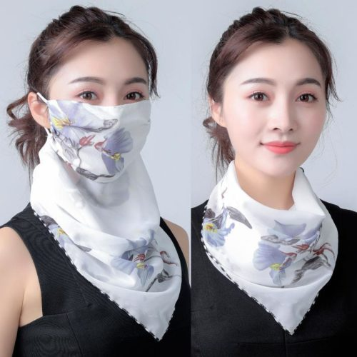 Chiffon Scarf Face Mask Protection