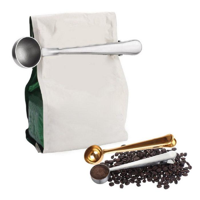 Coffee Scoop Measuring Spoon Clip