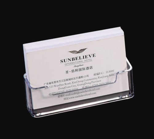 Business Card Stand Clear Holder