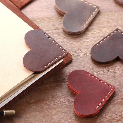 Leather Bookmark Corner Page Marker
