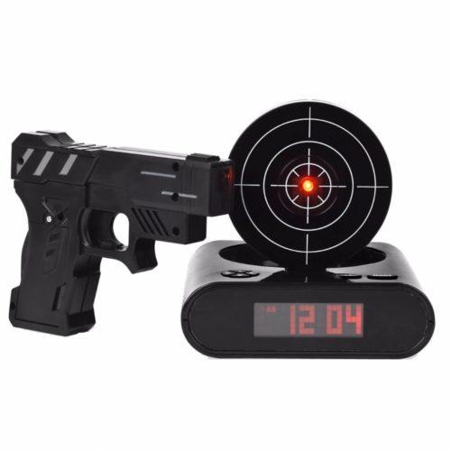 Gun Alarm Clock Laser Shooter