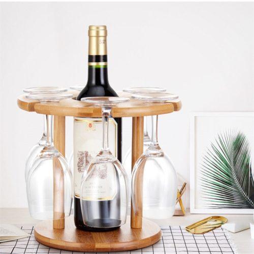 Wooden Wine Glass Holder Drying Rack