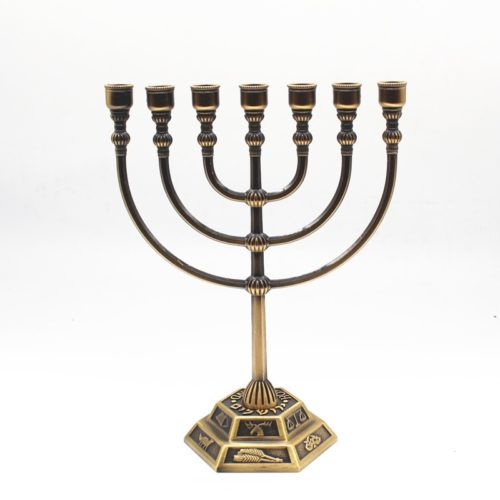 Hanukkah Menorah 7-Slot Candle Holder