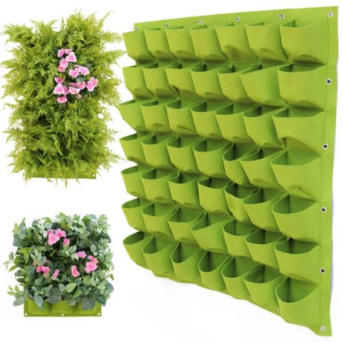 Wall Pocket Planter Hanging Grow Bags