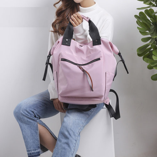 Ladies Backpack Bag Nylon Rucksack