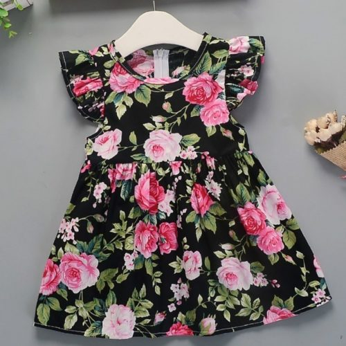 Toddler Floral Dress Cotton Fabric