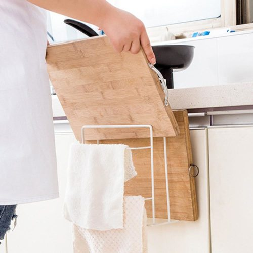 Chopping Board Holder Double Layer Rack
