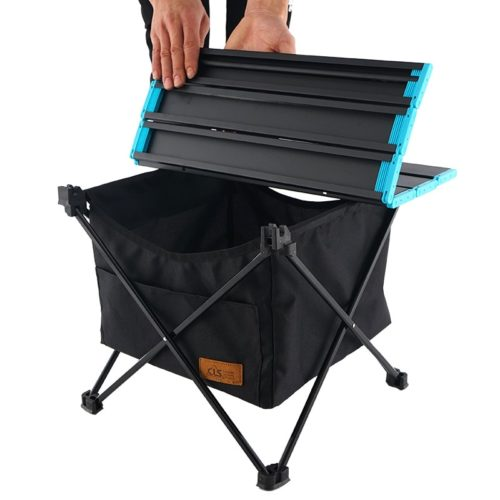 Camping Table with Storage Foldable Table