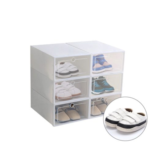 Transparent Shoe Boxes Shoe Organizer (6Pcs.)