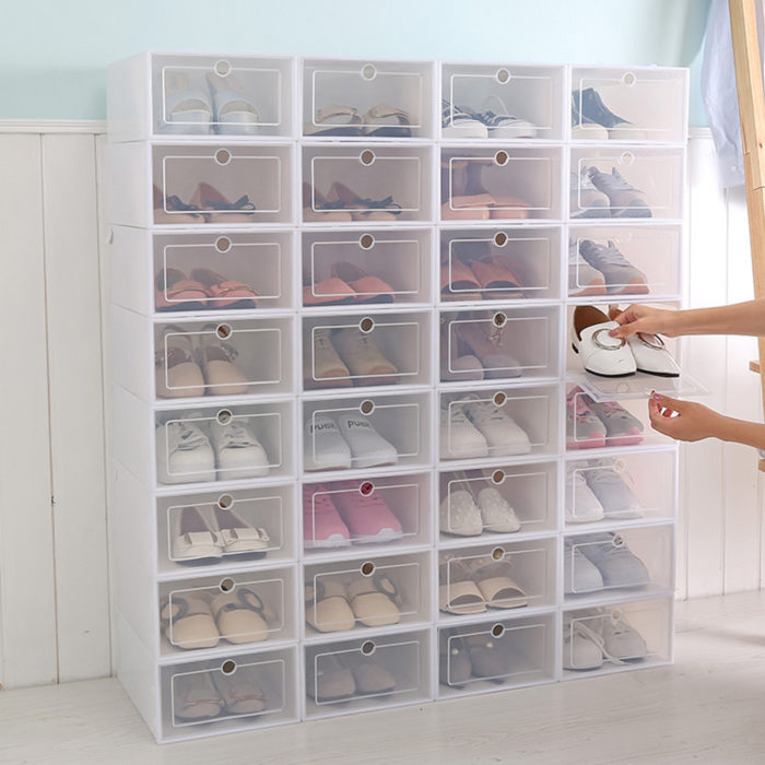Transparent Shoe Boxes Shoe Organizer (6Pcs.)