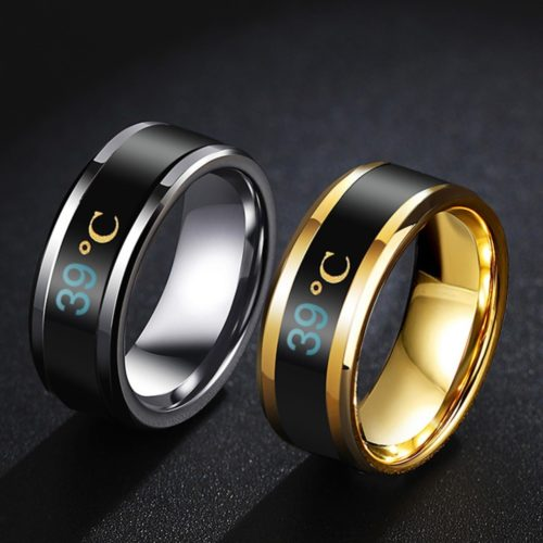 Smart Ring with Display Temperature Ring