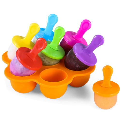 Silicone Popsicle Mold 7-Slot Container