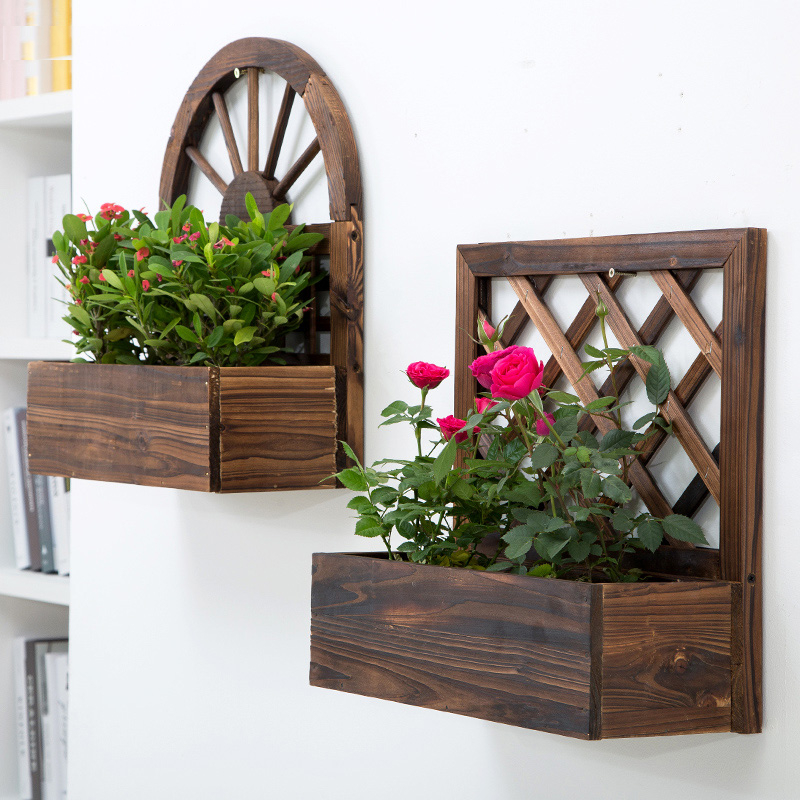 Wood Wall Planter Gardening Supplies 2 Pcs Life Changing Products