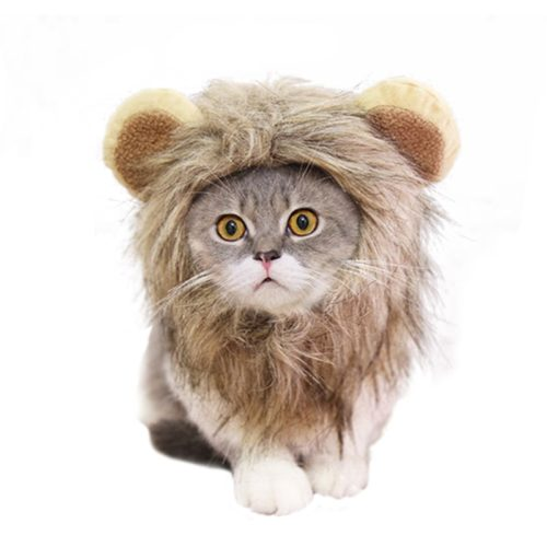 Cat Lion Costume Pet Funny Headgear