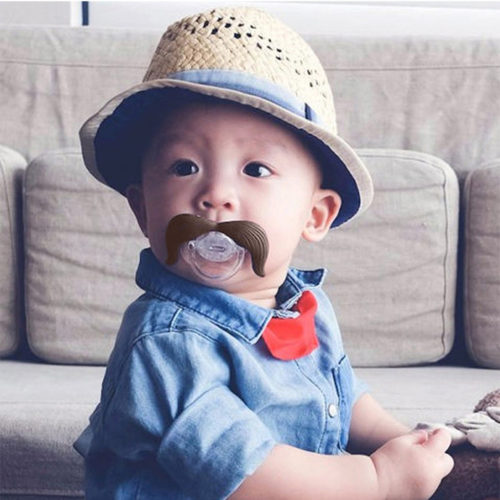 Mustache Pacifier Funny Baby Pacifier