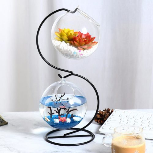 Hanging Plant Stand with Glass Balls