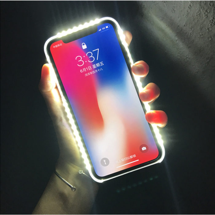 LED iPhone Case with Selfie Light
