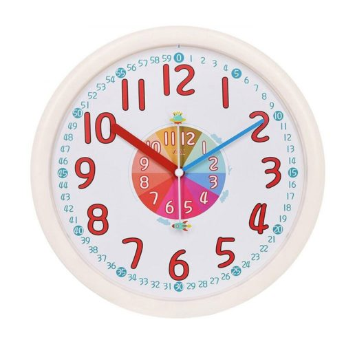 Kids Wall Clock Non-Ticking Clock