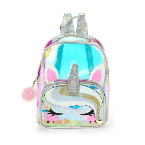 Girls Unicorn Backpack Cute Holographic Design