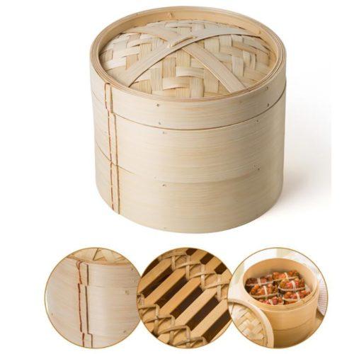 Bamboo Steamer Basket Kitchen Set