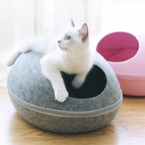 Cat Cave Egg Shape Design Pet Bed