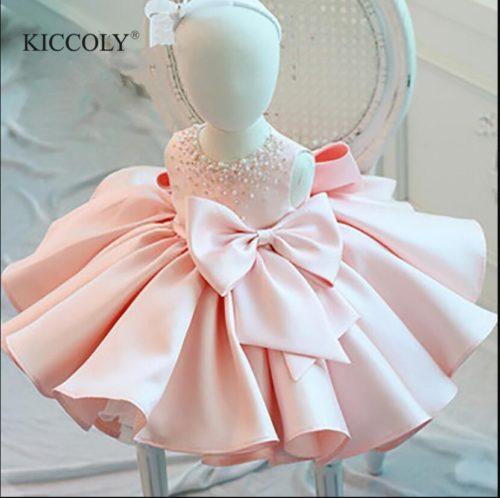 Baby Girl Birthday Dress Beaded Apparel