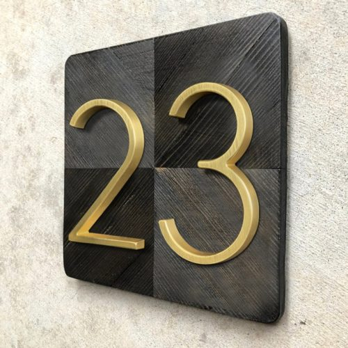 Door Number Sign Modern Design