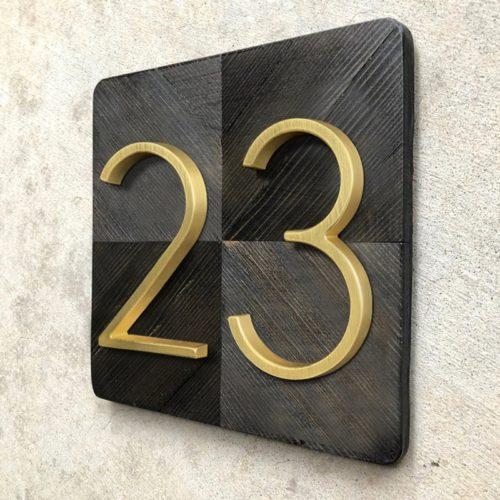 Door Number Sign Modern Design