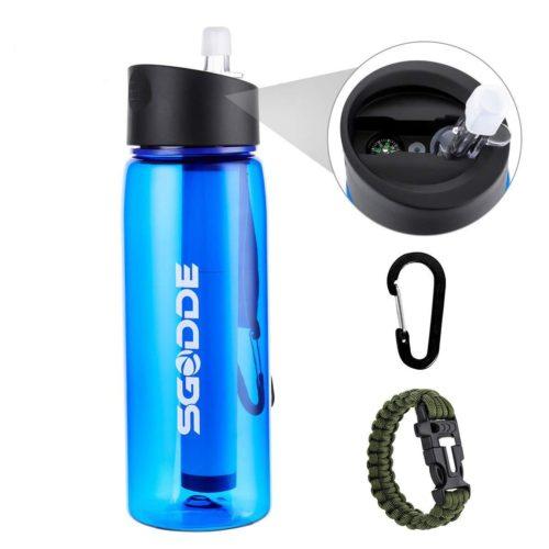 Water Filter Water Bottle Camping Bottle