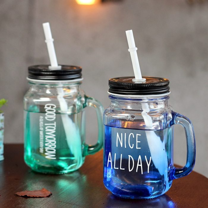 Mason Jars with Handle Drinking Cup