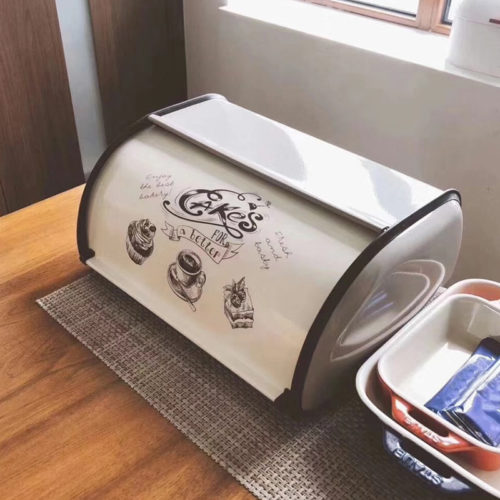 Bread Storage Container Metal Box
