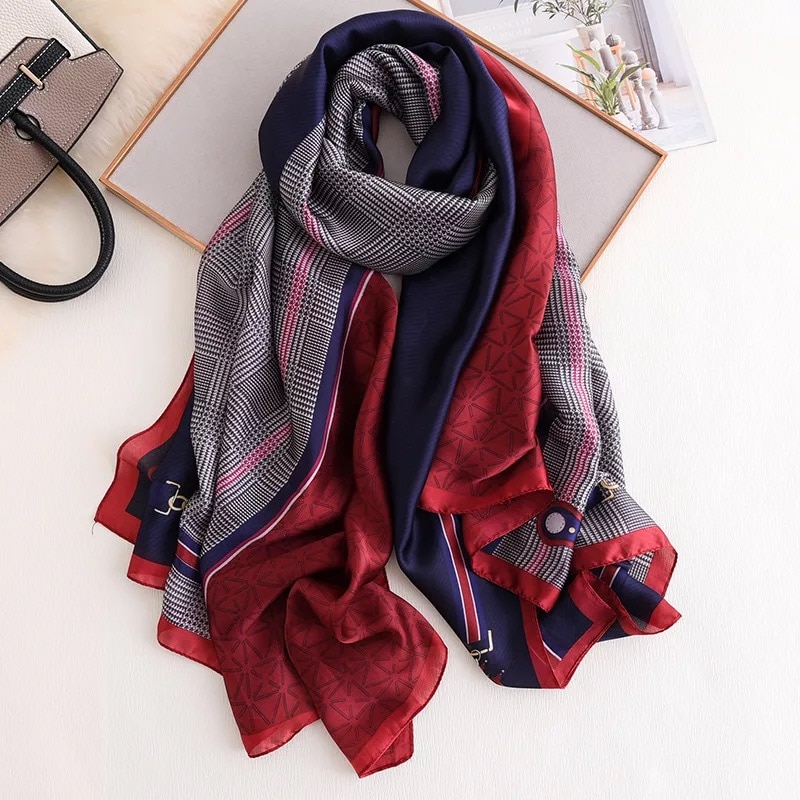 Soft Polyester Silk Square Scarfs For Women Hair Fashion Print Fashion Sports Ball 2019 Kid Head Scarf Scarf For Women Down Scarf Multiple Ways Of Wearing Daily Decor