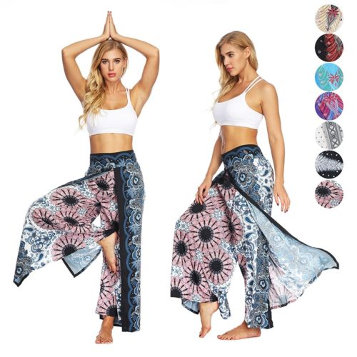 Wide Leg Yoga Pants Printed Bohemian Pants