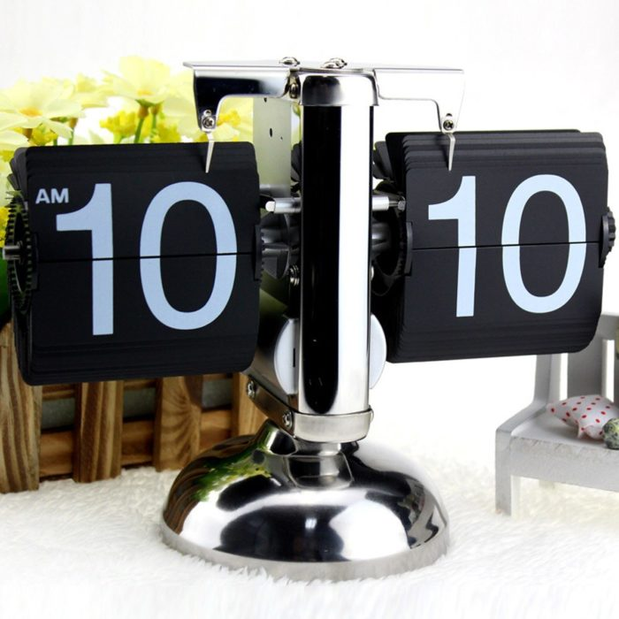 Retro Flip Clock Desk Decor Clock
