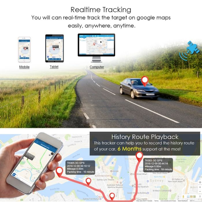 Vehicle GPS Tracker Standby Locator