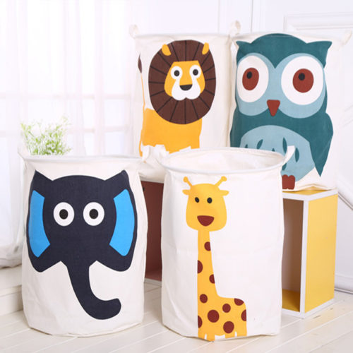Cloth Basket Animals Laundry Storage